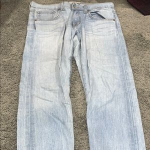 Light wash J Brand relaxed fit skinny jeans